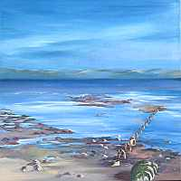 Click for more details of Loch Ryan (oil on canvas) by Jan Holak