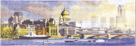 Click for more details of London Skyline (cross-stitch kit) by John Clayton