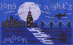 Click for more details of Long Night's Moon (cross stitch) by Misty Hill Studio