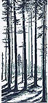 Click for more details of Long Shadows in Pine Forest (cross stitch) by Permin of Copenhagen
