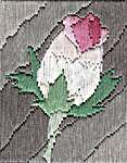 Click for more details of Long Stitch Mini Kit - Rosebud (long-stitch) by Anne Peden