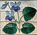 Click for more details of Long Stitch Mini Kit - Wood Violet (long-stitch) by Anne Peden