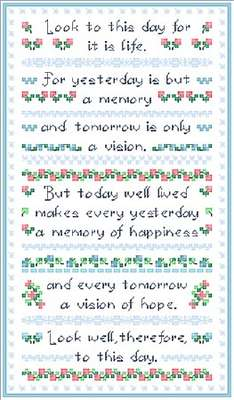 Click for more details of Look to this Day (cross stitch) by Designs by Cathy