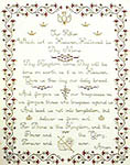 Click for more details of Lord's Prayer Sampler (cross-stitch pattern) by Margaret & Margaret