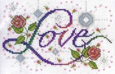 Click for more details of Love (cross stitch) by Design Works
