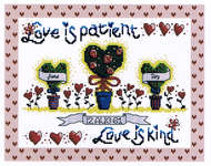 Click for more details of Love Is (cross-stitch pattern) by Cinnamon Cat