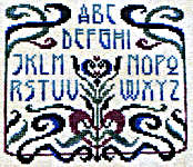 Click for more details of Love Letters - Art Nouveau (cross-stitch pattern) by Ink Circles