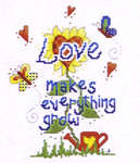 Click for more details of Love Makes (cross-stitch) by Cinnamon Cat