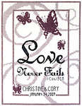 Click for more details of Love Never Fails (cross stitch) by Janlynn
