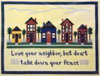 Click for more details of Love Your Neighbor (cross-stitch pattern) by ixstitch