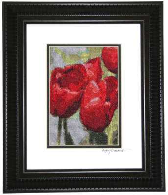 Click for more details of Luscious Tulips  (cross-stitch pattern) by Mary Gaines