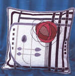 Click for more details of MacKintosh Rose Cushion (cross-stitch kit) by Barbara Thompson