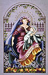 Click for more details of Madonna of the Garden (cross stitch) by Mirabilia Designs