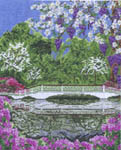 Click for more details of Magnolia Bridge (cross stitch) by Pegasus