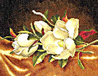 Click for more details of Magnolia Still Life (cross-stitch) by Lanarte