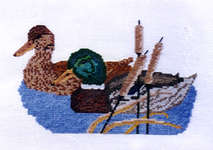 Click for more details of Mallards (cross-stitch kit) by Abacus Designs