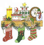 Click for more details of Mantel Mischief (cross stitch) by Imaginating
