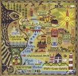 Click for more details of Map of Hawk Run Hollow (cross stitch) by Carriage House Samplings