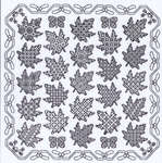 Click for more details of Maple Leaf Panel (blackwork kit) by Classic Embroidery