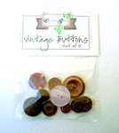 Click for more details of Mauve Vintage Buttons x10 (buttons and brads) by Elizabeth Grace