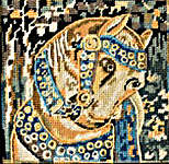 Click for more details of Medieval Horse (tapestry kit) by Glorafilia
