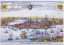Click for more details of Medieval Stockholm (cross stitch) by Eva Rosenstand