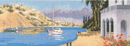 Click for more details of Mediterranean Harbour (cross-stitch pattern) by John Clayton