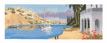 Click for more details of Mediterranean Harbour (cross-stitch kit) by John Clayton