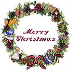 Click for more details of Merry Christmas (cross stitch) by Eva Rosenstand