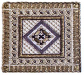 Click for more details of Metallic Thread Box Top (cross stitch) by In a Gentle Fashion