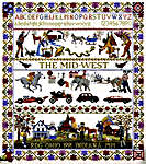 Click for more details of Mid-West Sampler (cross stitch) by Ginger & Spice