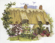 Click for more details of Midsummer Thatch (cross-stitch kit) by Rose Swalwell