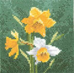 Mini Daffodil - cross-stitch kit by John Clayton
