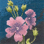 Click for more details of Mini Geranium (cross-stitch) by John Clayton