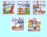 Click for more details of Mini Harbour Pictures (cross stitch) by Permin of Copenhagen