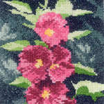Click for more details of Mini Hollyhocks (cross-stitch kit) by John Clayton