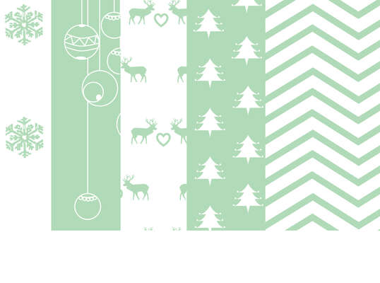 Click for more details of Mint Christmas Digital Papers (Five A4 size digital downloads) (digital downloads) by Julie Lynes