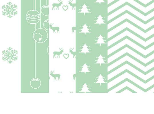 Click for more details of Mint Christmas Digital Papers (Five A4 size digital downloads) (digital downloads) by Julie Lynes