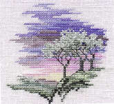 Click for more details of Minuets - Frosty Trees (cross-stitch kit) by Rose Swalwell