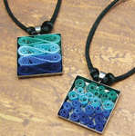 Click for more details of Modern Waves Necklace (quilling) by Quilled Creations