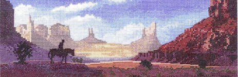 Click for more details of Monument Valley (cross-stitch pattern) by John Clayton