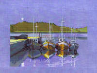 Click for more details of Moonlit Boats (cross-stitch kit) by Permin of Copenhagen