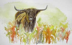 Click for more details of Morag (watercolour on paper) by Julie Peden
