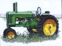 John Deere Tractor No. 9 - cross-stitch pattern by Puckerbush Inc.