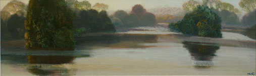 Morning Lake Scene - oil