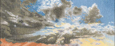 Click for more details of Morning Sky with Rain Clouds (cross stitch) by Thea Gouverneur