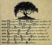 Click for more details of Mother's Tree (cross-stitch pattern) by Lavender & Lace