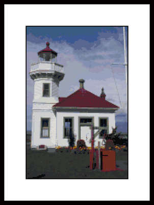 Click for more details of Mukilteo Lighthouse Photo (cross-stitch pattern) by Mary Gaines