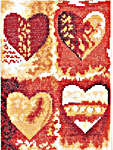 Click for more details of Multi Colour Hearts (cross-stitch kit) by Lanarte
