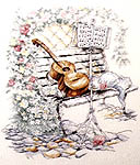 Click for more details of Music is my First Love (cross-stitch pattern) by Stoney Creek